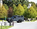 Arlington National Cemetery - Armored Personnel Carrier leaving main gate - 2011.jpg