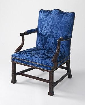 Thomas Affleck - Marlborough-leg armchair (c. 1766), Los Angeles County Museum of Art. Made for Governor John Penn.