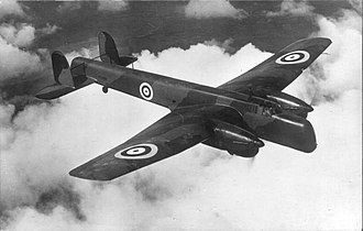Armstrong Whitworth Whitley - Merlin-powered prototype K7208 (converted Whitley Mk I), circa 1938