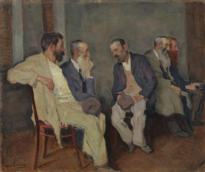 Conversation - Arnold Lakhovsky, The Conversation (circa 1935)