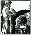 Arthur-Pyle King Arthur findeth ye old woman in ye hut.JPG