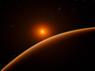 Super-Earth - Image: Artist's impression of the super Earth exoplanet LHS 1140b