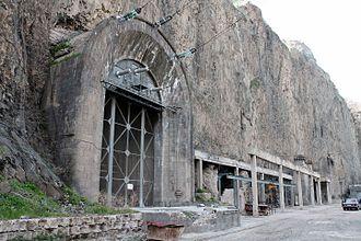Sevan–Hrazdan Cascade - Exit of the Arzni HPS