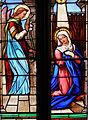 Assier - Église Saint-Pierre - Vitrail Annonciation.JPG