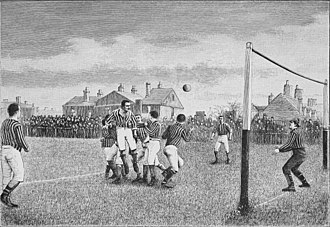 History of association football - Representation of a football match from the book Athletics and football, 1894