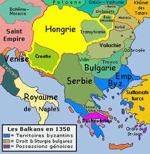 Mapa da região c. 1350