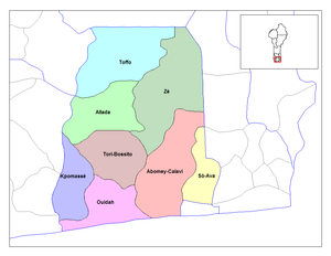 Communes of Benin - Communes of Atlantique.