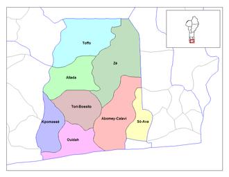 Communes of Benin - Communes of Atlantique.