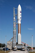 Atlas V 551 with New Horizons on Launch Pad 41