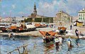 Attilio Pratella - Napoli, spiaggia della Marinella e Castello del Carmine.jpg