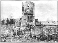 Aubérive église en juillet 1915.jpg
