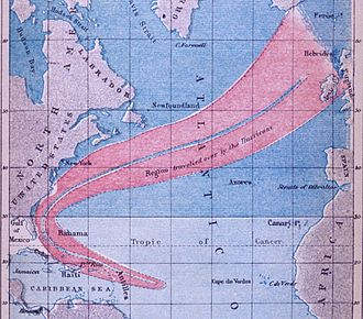 1840–49 Atlantic hurricane seasons - Track of Hurricane II of 1848