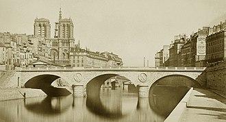 Pont Saint-Michel - Pont Saint-Michel in 1859.