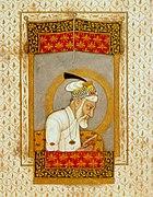 Aurangzeb reading the Quran