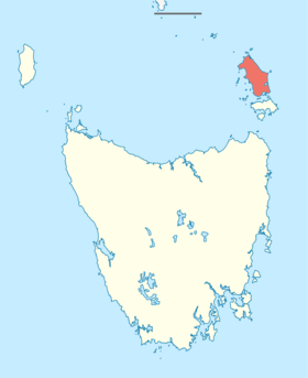 Australia Tasmania location map Flinders Island.png