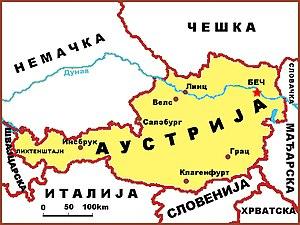 mapa nemacke i austrije Географија Аустрије — Википедија, слободна енциклопедија mapa nemacke i austrije