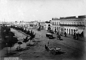 Plaza Miserere - View of Plaza Miserere around 1890