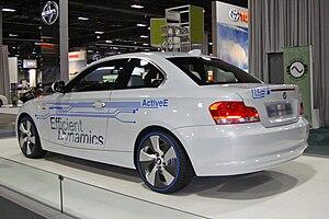 BMW ActiveE - ActiveE concept electric car exhibited at the 2010 Washington Auto Show.