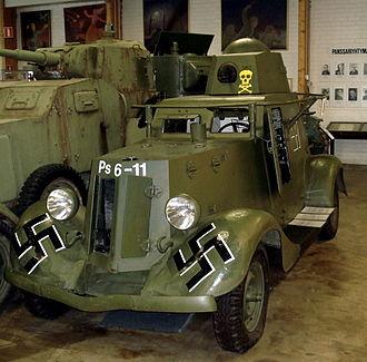 BA-20 - Soviet BA-20 armored car in Finnish markings, at the Parola Tank Museum Finland