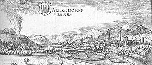 Bad Sooden-Allendorf - Allendorf - excerpt from the Topographia Hassiae by Matthäus Merian 1655