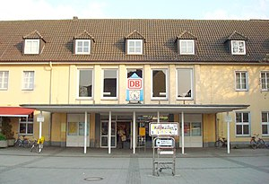 Gütersloh Hauptbahnhof - Entrance to the station hall