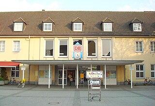 railway station in Gütersloh, Germany