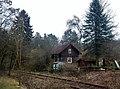 Bahnwärterhaus Nr. 49, Oktober 1873 vom Könglichen Eisenbahn-Hochbauamt in Heilbronn erstellt. Am 27. Mai 1983 fuhr zum letzten Mal der Schienenbus nach Calw. 1993 wurde das Gebäude in die Liste der Kulturdenkmale e - panoramio.jpg