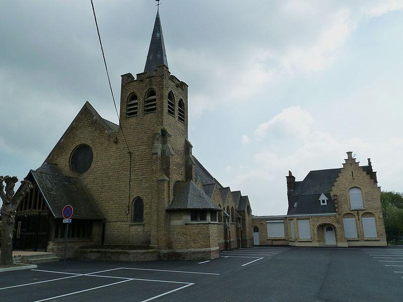 L'église St Amand à Outtersteene Bailleul Nord, France