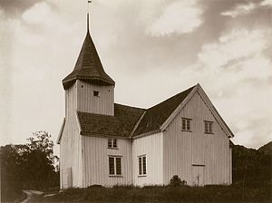 Flekkefjord - View of the Bakke Church in Sira