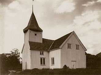 Flekkefjord - View of the Bakke Church in Sira