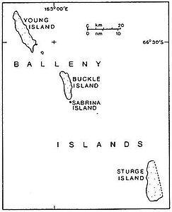 Karte der Balleny-Inseln