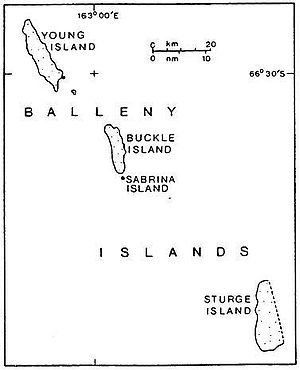 Balleny Islands - Map of the Balleny Islands