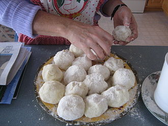 Lefse - Balls of lefse dough