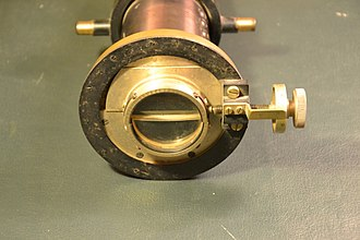 Heliometer - Heliometer by Carl Bamberg, Berlin, around 1880/90. Diameter of the lens 4.2 cm.