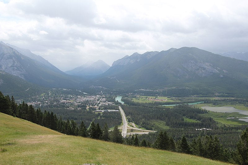 File:Banff Canada from mt Norquay (14566811190).jpg