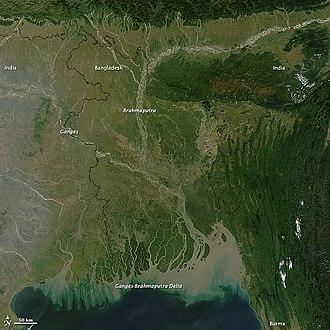 Brahmaputra River - The Brahmaputra River from Space