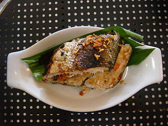 Milkfish - A grilled bangus (milkfish) in the Philippines.