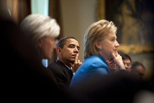 Barack Obama Cabinet Sebelius Hillary Clinton Swine Flu 5-1
