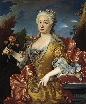 Barbara of Portugal - Portrait by Jean Ranc, 1729