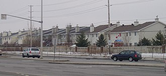 Barrhaven - A group of homes in Barrhaven on Woodroffe Avenue, between Fallowfield Road and Earl Mulligan Drive