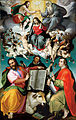 Bartolomeo Passerotti - The Coronation of the Virgin with Saints Luke, Dominic, and John the Evangelist - Google Art Project.jpg