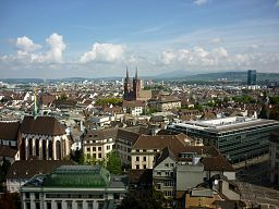 Byen Basel set fra Elisabethenkirche