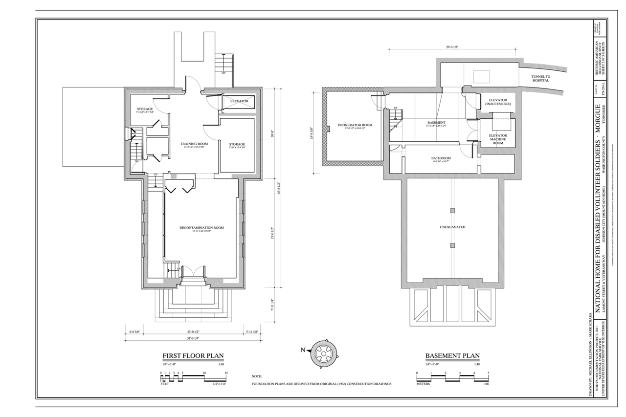 File:Basement and First Floor Plans - National Home for ...