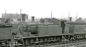 Matthew Holmes (engineer) - ex-NBR Holmes class D (LNER J83) 0-6-0T at Bathgate Locomotive Depot in 1962
