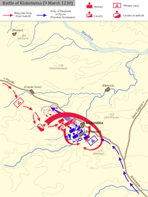 Battle of Klokotnitsa - Image: Battle of Klokotnitsa