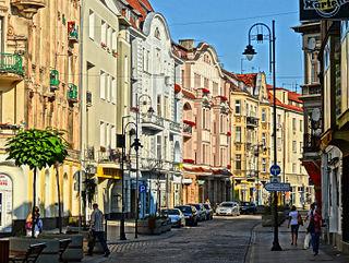 Dworcowa Street Street in Bydgoszcz, Poland