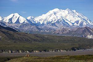 Mount Denali seen from a distance