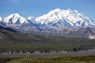 Denali–Mount McKinley naming dispute - View of the mountain, centerpiece of Denali National Park and Preserve.