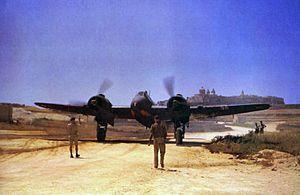 No. 272 Squadron RAF - A 272 Sqn Bristol Beaufighter at Ta'Qali, Malta, 27 June 1943.