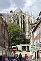 Beauvais, the Rue Chambiges, view to cathedral.JPG